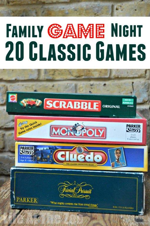 Family Game Night - 20 Classic Games to Play