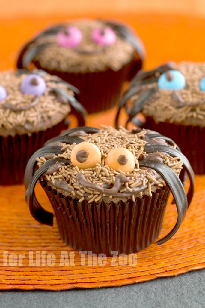 Simple and cute Spider cupcakes - recipe and how to! The kids are going to love this!