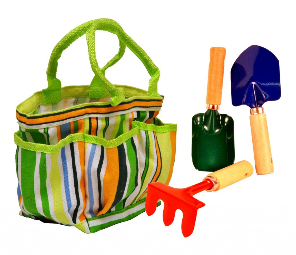 no candy easter gifts - kids garden tool set