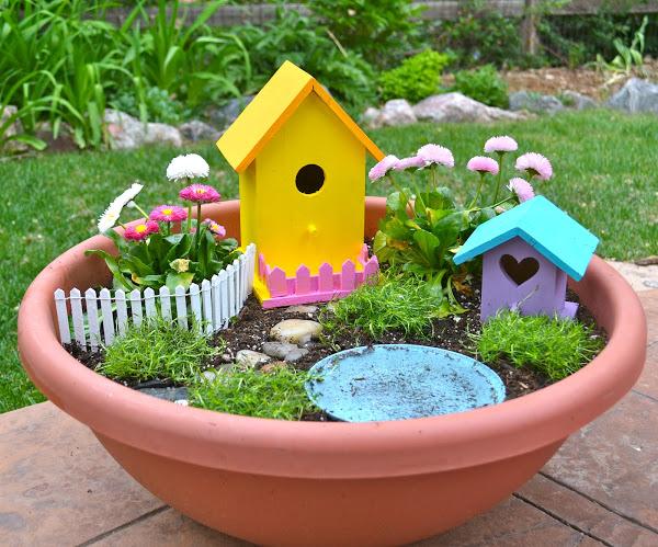 DIY Garden Ideas for kids - make a fairy garden - Life At The Zoo