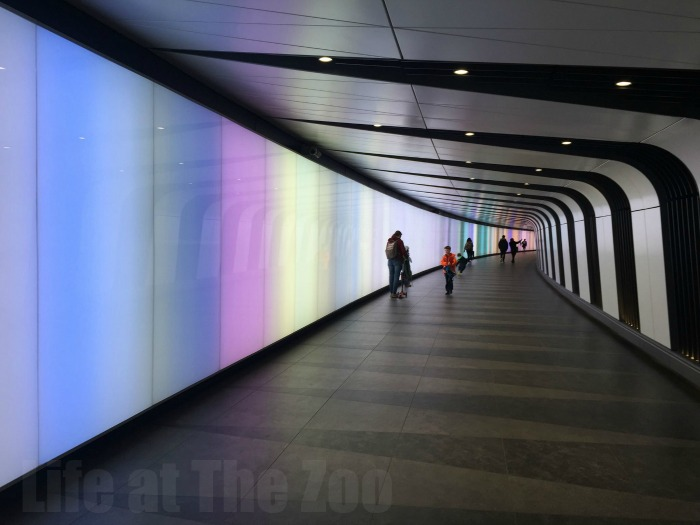 London Canal Walks - The Light Tunnel at Kings Cross St Pancras