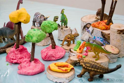 Dinosaur Activities for Preschoolers - Playdough