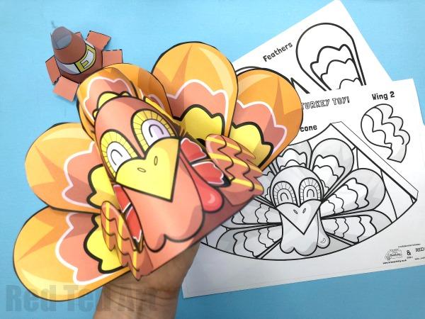 fun turkey printable for kids